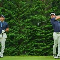 ともに行動をしてきた金谷拓実と中島啓太(右) 2020年 日本オープンゴルフ選手権競技 事前 金谷拓実 中島啓太