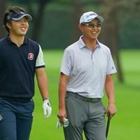 若手とのラウンドで勢い見せた谷口徹(右) 2020年 日本オープンゴルフ選手権競技 初日 谷口徹 今野大喜