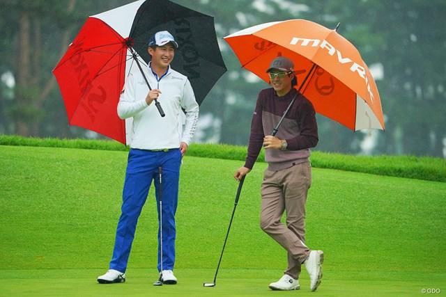 2020年 日本オープンゴルフ選手権競技 初日 星野陸也 石川遼 仲良しの先輩後輩。