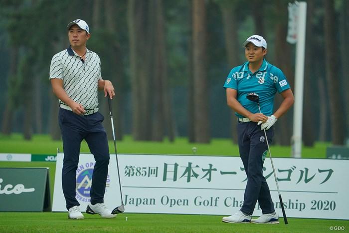 明日も首位争いをしてくれそうな2人。 2020年 日本オープンゴルフ選手権競技 初日 堀川未来夢 今平周吾