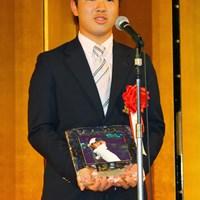 中学3年の伊藤誠道くん。受賞のお祝いにN.ファルドからメッセージも届いた! 2010年 ゴルフダイジェスト アワード 伊藤誠道