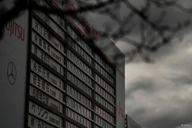 2020年 富士通レディース 2020 初日 リーダーボード 忍び寄る冬