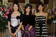 2010年 ゴルフダイジェスト アワード 沖瑛美維さん、林みなほさん、稲垣貴子さん