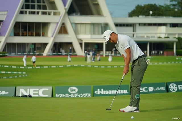 2020年 日本オープンゴルフ選手権競技 2日目 河本力 長いPar5の18番も、圧倒的な飛距離を生かして楽々バーディ!