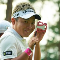 このピンクのパターが、今日は爆発しちゃいました。 2020年 日本オープンゴルフ選手権競技 2日目 池村寛世