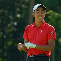 通算4アンダーで2位につけた杉原大河 2020年 日本オープンゴルフ選手権競技 2日目 杉原大河