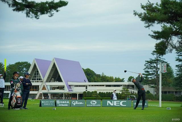 2020年 日本オープンゴルフ選手権競技 2日目 石川遼 金谷拓実 静けさが漂う会場に