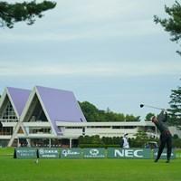 静けさが漂う会場に 2020年 日本オープンゴルフ選手権競技 2日目 石川遼 金谷拓実