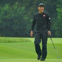 難しい4番Par4でバーディを奪い、思わず笑みがこぼれます。 2020年 日本オープンゴルフ選手権競技 3日目 内藤寛太郎