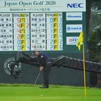 最終日もボードの一番上にいられるか。 2020年 日本オープンゴルフ選手権競技 3日目 谷原秀人