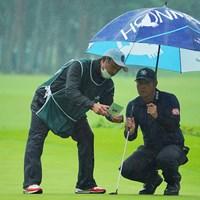 今日もナイスコンビでした。 2020年 日本オープンゴルフ選手権競技 3日目 谷原秀人