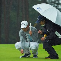 最終18番のグリーン上、突然何が起きたのかと。 2020年 日本オープンゴルフ選手権競技 3日目 河本力