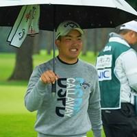 9番で渾身のバーディを奪い嬉しそうな表情 2020年 日本オープンゴルフ選手権競技 3日目 河本力