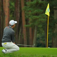 16番、チップインはならず。 2020年 日本オープンゴルフ選手権競技 4日目 金谷拓実