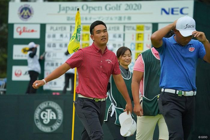 最終18番でバーディを奪えず、悔しみの表情に。 2020年 日本オープンゴルフ選手権競技 4日目 河本力