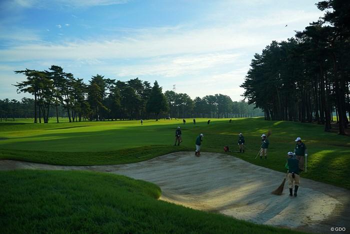 最終日の朝3 2020年 日本オープンゴルフ選手権競技 4日目 コース整備