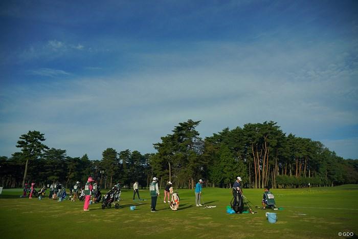 すごく良い環境の練習場なんです。 2020年 日本オープンゴルフ選手権競技 4日目 練習場