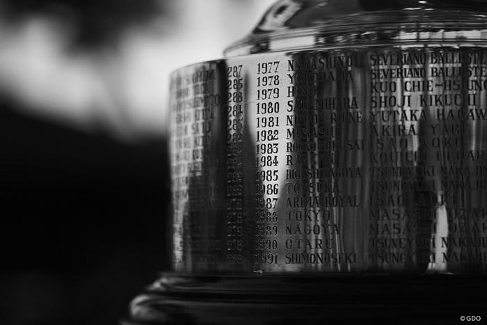 歴史に名を刻みたい。 2020年 日本オープンゴルフ選手権競技 4日目 優勝カップ