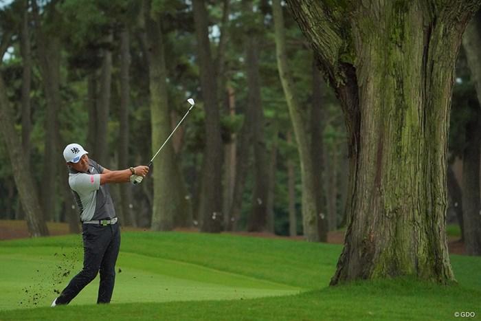 18番3rdショットは前の木がじゃまだったでしょうか。 2020年 日本オープンゴルフ選手権競技 4日目 谷原秀人