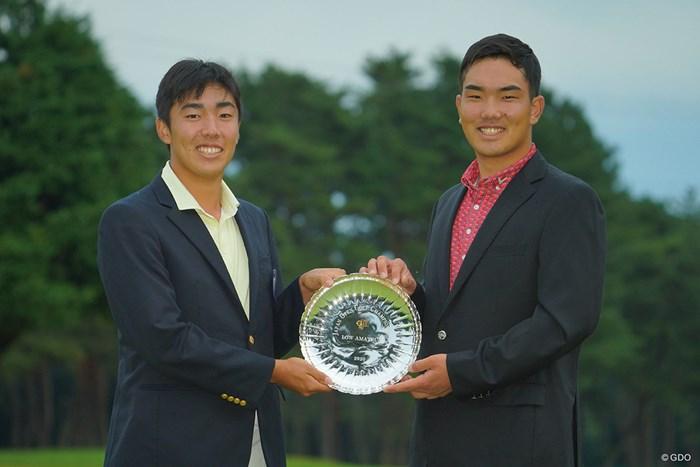 2人で仲良くローアマゲット。 2020年 日本オープンゴルフ選手権競技 4日目 杉原大河 河本力