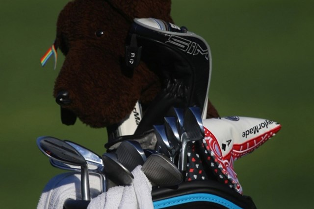 2021年 ザ・CJカップ@シャドークリーク 最終日 マシュー・ウルフのキャディバッグ マシュー・ウルフのキャディバッグ(協力/GolfWRX、PGATOUR.COM)
