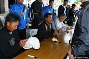 2010年 つるやオープン 初日 (左から)井戸木鴻樹、倉本昌弘、杉原輝雄