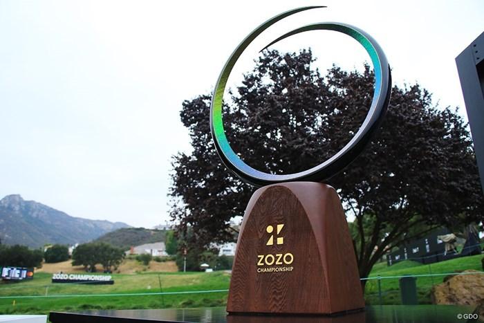 誰が手にするのだろう? 2021年 ZOZOチャンピオンシップ@シャーウッド 初日 優勝カップ