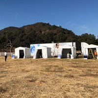 ZOZOチャンピオンシップのPCR検査はコース近隣の牧場で行われた(提供:ZOZOチャンピオンシップ) 2021年 ZOZOチャンピオンシップ@シャーウッド 初日 PCR検査会場