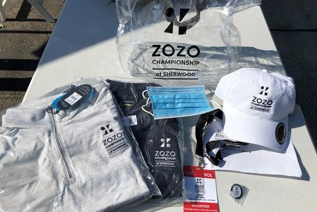 2021年 ZOZOチャンピオンシップ 2日目 ボランティア用グッズ ボランティアスタッフが場内で着用するグッズ(提供:ZOZOチャンピオンシップ)