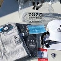 ボランティアスタッフが場内で着用するグッズ(提供:ZOZOチャンピオンシップ) 2021年 ZOZOチャンピオンシップ 2日目 ボランティア用グッズ