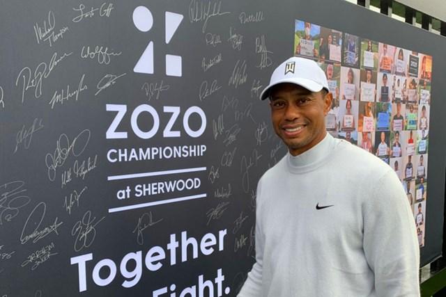 2021年 ZOZOチャンピオンシップ@シャーウッド 4日目 タイガー・ウッズ タイガー・ウッズのサインはどれ?(提供:ZOZOチャンピオンシップ)