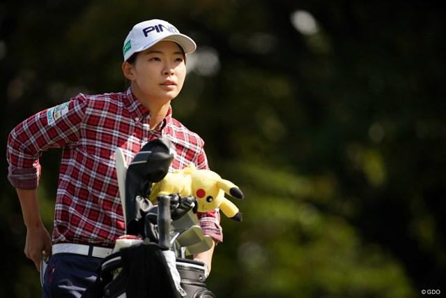 2020年 樋口久子 三菱電機レディスゴルフトーナメント 初日 渋野日向子 ホールインワンを達成した渋野日向子。後半のプレーを反省した