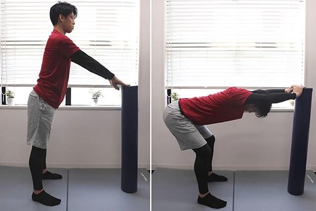 老化防止トレーニング ヒップヒンジ・ストレッチ(提供:ケアくる)