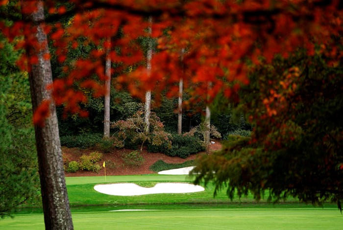 例年とは異なる彩りのオーガスタナショナルGC(提供:Augusta National Golf Club) 2021年 マスターズ 事前 オーガスタナショナルGC 12番