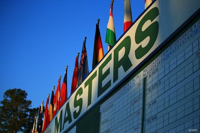 マスターズ リーダーボード マスターズのリーダーボード(写真は2018年大会)