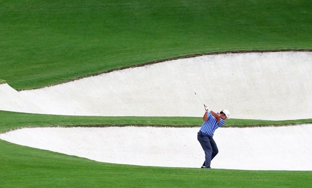 2021年 マスターズ 事前 松山英樹 火曜日にオーガスタで練習ラウンドを行った松山英樹 (Jamie Squire/Getty Images)