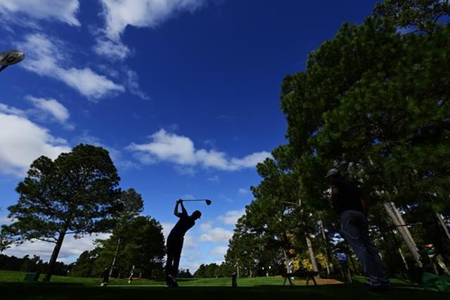 2021年 マスターズ 事前 キャメロン・チャンプ 15番ホール。無観客開催で狙いどころは変わってくる?(提供:Augusta National Golf Club))