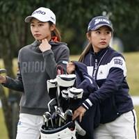 キャディの美祐さんとラウンドする 2020年 伊藤園レディスゴルフトーナメント 事前 安田祐香