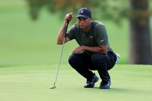 2021年 マスターズ 初日 タイガー・ウッズ ウッズは大会初日自己ベストタイの「68」でプレーし、上位発進を決めた(提供:Augusta National Golf Club)