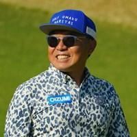 帽子には「ゴルフ、うまくなりたい」と。もう十分上手いじゃないですか。 2020年 三井住友VISA太平洋マスターズ 2日目 片山晋呉