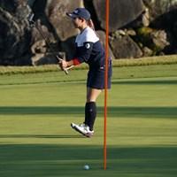 パットに力が入る 2020年 伊藤園レディスゴルフトーナメント 初日 大出瑞月
