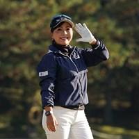 笑顔をみせる 2020年 伊藤園レディスゴルフトーナメント 初日 青木瀬令奈