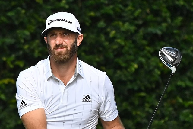 2021年 マスターズ 3日目 ダスティン・ジョンソン 通算16アンダーとしたダスティン・ジョンソン(提供:Augusta National Golf Club)
