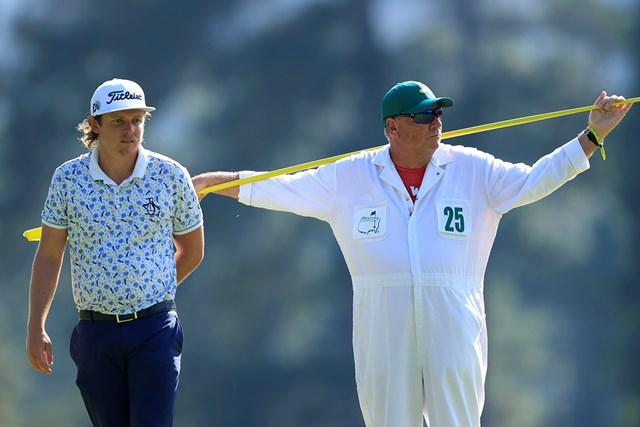 2021年 マスターズ 3日目 キャメロン・スミス キャメロン・スミス。隣はトーマスのキャディ(提供:Augusta National Golf Club)