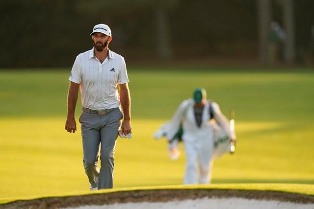 2021年 マスターズ 3日目 ダスティン・ジョンソン 最終日は18番グリーンへどんな表情で上るのだろう(提供:Augusta National Golf Club))