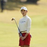 ショットが曲がり変顔をするユン・チェヨン 2020年 伊藤園レディスゴルフトーナメント 最終日 ユン・チェヨン
