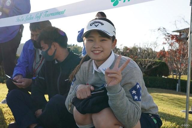 2020年 伊藤園レディスゴルフトーナメント 最終日 政田夢乃 笑顔が可愛い政田夢乃