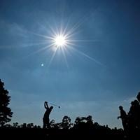 松山英樹 10番のショット(提供:Augusta National Golf Club) 2021年 マスターズ 3日目 松山英樹