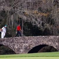 ディフェンディングチャンピオンのウッズは最終日の12番でまさかの「10」(提供:Augusta National Golf Club) 2021年 マスターズ 最終日 タイガー・ウッズ