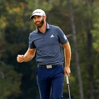 勝利のガッツポーズ(提供:Augusta National Golf Club) 2021年 マスターズ 4日目 ダスティン・ジョンソン